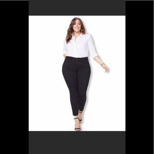 NYDJ Alina Black Skinny Jeans 16W NEW $120 Retail